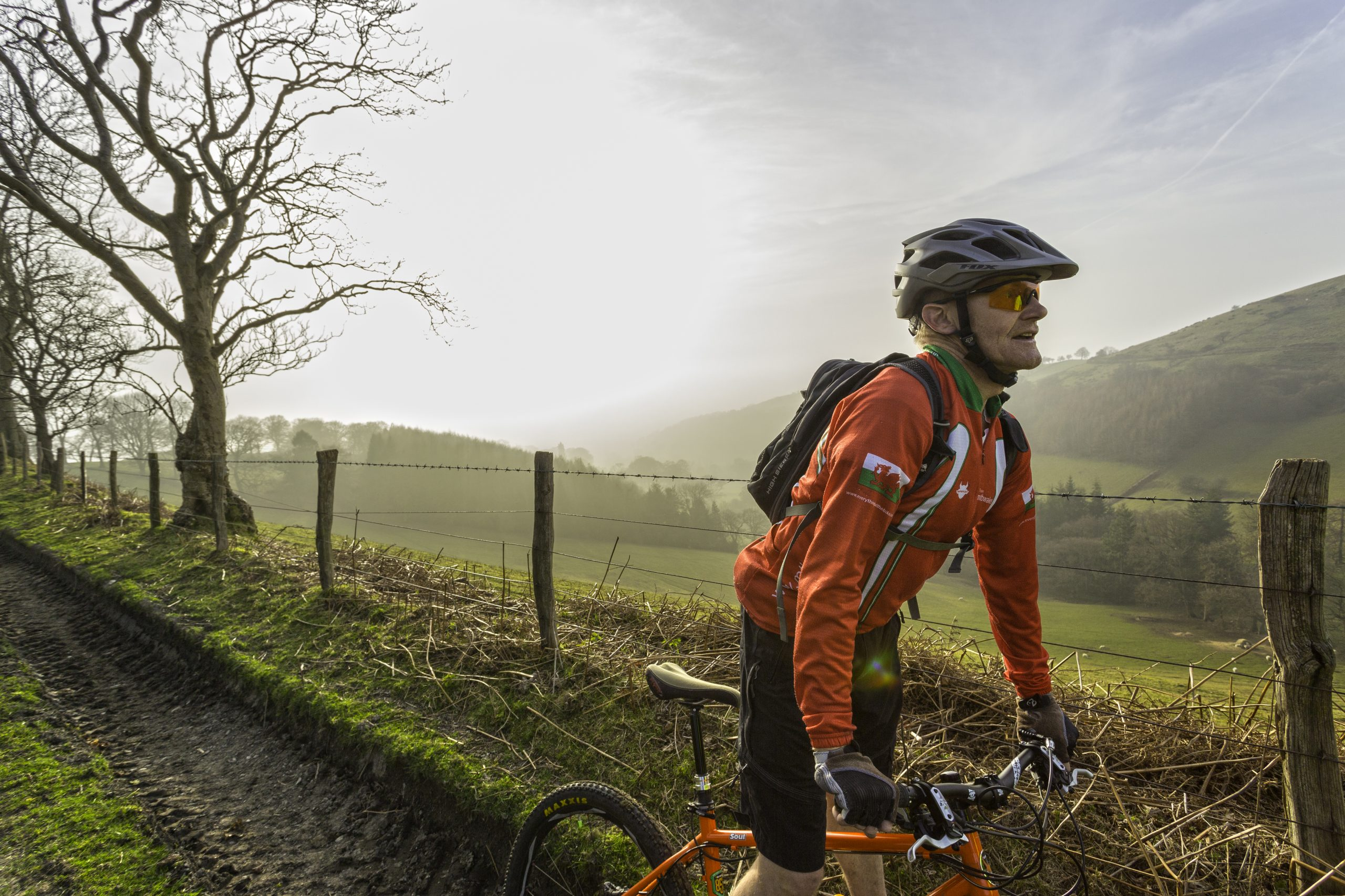 Mountain bikers on Clwydian Range